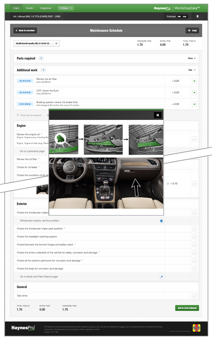 Image screenshot WorkshopData Car Tech